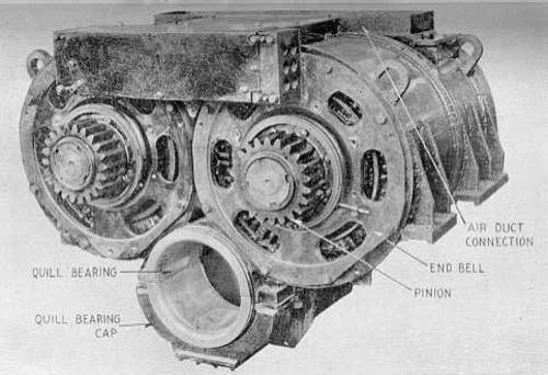 The pennsylvania railroad gg1 quill drive for What is traction motor
