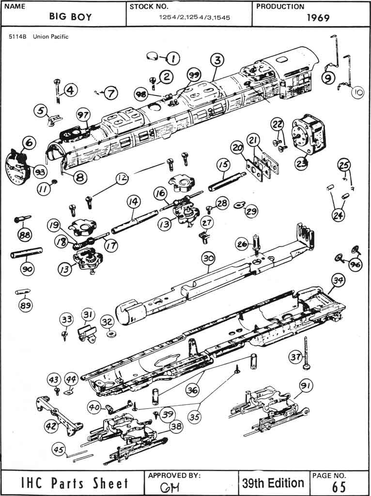 wiring lionel train parts diagram